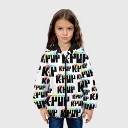 Куртка с капюшоном детская K-pop Pattern цвета 3D-черный — фото 2