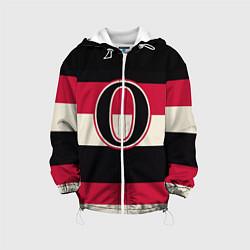 Детская 3D-куртка с капюшоном с принтом Ottawa Senators O, цвет: 3D-белый, артикул: 10107373705458 — фото 1