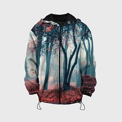 Куртка с капюшоном детская Осень цвета 3D-черный — фото 1