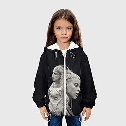 Куртка с капюшоном детская Die Antwoord: Black Girl цвета 3D-белый — фото 2