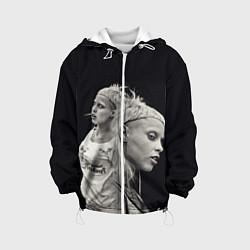 Детская 3D-куртка с капюшоном с принтом Die Antwoord: Black Girl, цвет: 3D-белый, артикул: 10112003305458 — фото 1