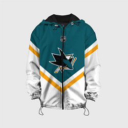 Детская 3D-куртка с капюшоном с принтом NHL: San Jose Sharks, цвет: 3D-черный, артикул: 10112243605458 — фото 1