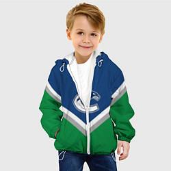 Куртка с капюшоном детская NHL: Vancouver Canucks цвета 3D-белый — фото 2