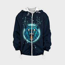 Детская 3D-куртка с капюшоном с принтом Космический медведь, цвет: 3D-белый, артикул: 10112518105458 — фото 1