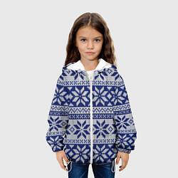 Куртка 3D с капюшоном для ребенка Синий свитер - фото 2