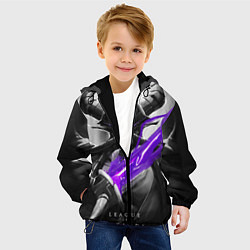 Детская 3D-куртка с капюшоном с принтом Kassadin, цвет: 3D-черный, артикул: 10115225905458 — фото 2