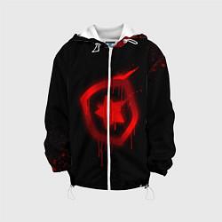 Детская 3D-куртка с капюшоном с принтом Gambit: Black collection, цвет: 3D-белый, артикул: 10115306005458 — фото 1