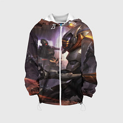 Детская 3D-куртка с капюшоном с принтом LoL, цвет: 3D-белый, артикул: 10116369505458 — фото 1