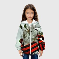 Детская 3D-куртка с капюшоном с принтом Георгиевская лента, цвет: 3D-белый, артикул: 10125927205458 — фото 2