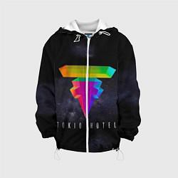 Детская 3D-куртка с капюшоном с принтом Tokio Hotel: New Symbol, цвет: 3D-белый, артикул: 10129145605458 — фото 1