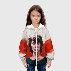 Детская 3D-куртка с капюшоном с принтом Молодой Цой, цвет: 3D-белый, артикул: 10129707805458 — фото 2