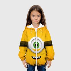 Детская 3D-куртка с капюшоном с принтом Я миньон, цвет: 3D-белый, артикул: 10131641005458 — фото 2