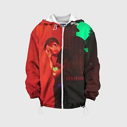 Детская 3D-куртка с капюшоном с принтом Dolphin Pain, цвет: 3D-белый, артикул: 10133427505458 — фото 1