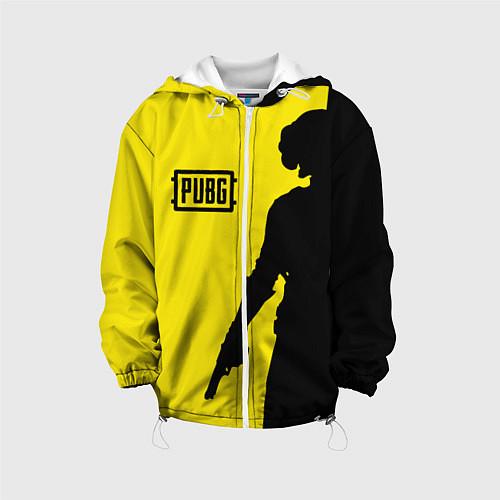 Детская куртка PUBG: Yellow Shadow / 3D-Белый – фото 1