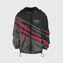 Детская 3D-куртка с капюшоном с принтом AUDI SPORT, цвет: 3D-черный, артикул: 10146301305458 — фото 1