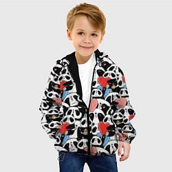 Куртка с капюшоном детская Funny Pandas цвета 3D-черный — фото 2