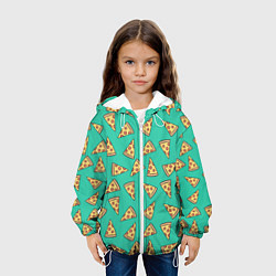 Куртка с капюшоном детская Стиль пиццы цвета 3D-белый — фото 2