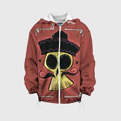 Куртка с капюшоном детская Dia de los Muertos цвета 3D-белый — фото 1