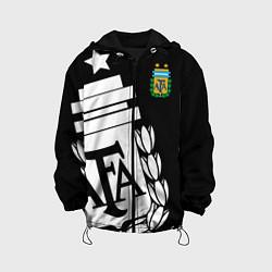 Детская 3D-куртка с капюшоном с принтом Argentina Team: Exclusive, цвет: 3D-черный, артикул: 10153704905458 — фото 1