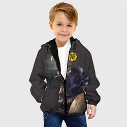 Детская 3D-куртка с капюшоном с принтом Fallout 76, цвет: 3D-черный, артикул: 10154601305458 — фото 2