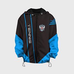 Детская 3D-куртка с капюшоном с принтом Tennis: Russian Style, цвет: 3D-черный, артикул: 10155113305458 — фото 1