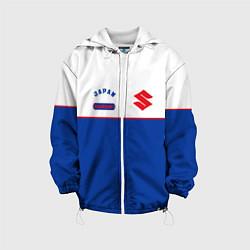 Детская 3D-куртка с капюшоном с принтом Suzuki Style, цвет: 3D-белый, артикул: 10155241105458 — фото 1