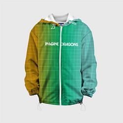 Детская 3D-куртка с капюшоном с принтом Imagine Dragons: Evolve Grid, цвет: 3D-белый, артикул: 10161268105458 — фото 1