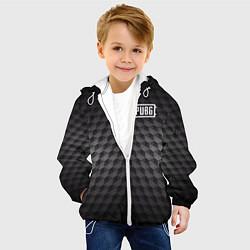 Куртка с капюшоном детская PUBG: Carbon Style цвета 3D-белый — фото 2
