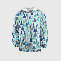 Куртка 3D с капюшоном для ребенка Зимний лес - фото 1