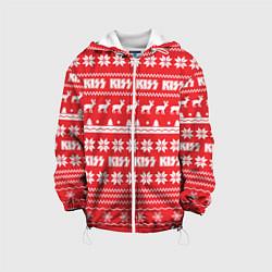 Детская 3D-куртка с капюшоном с принтом Kiss: NY Pattern, цвет: 3D-белый, артикул: 10165772505458 — фото 1