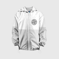 Детская 3D-куртка с капюшоном с принтом Stone Island: White Fashion, цвет: 3D-белый, артикул: 10166649105458 — фото 1