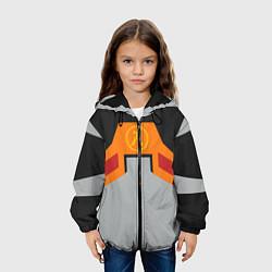 Куртка с капюшоном детская Гордон Фримен цвета 3D-черный — фото 2