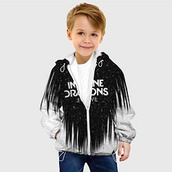 Детская 3D-куртка с капюшоном с принтом IMAGINE DRAGONS, цвет: 3D-белый, артикул: 10184872505458 — фото 2