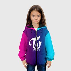 Детская 3D-куртка с капюшоном с принтом TWICE, цвет: 3D-черный, артикул: 10192832305458 — фото 2