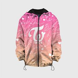 Детская 3D-куртка с капюшоном с принтом TWICE АВТОГРАФЫ, цвет: 3D-черный, артикул: 10192887905458 — фото 1