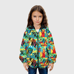 Детская 3D-куртка с капюшоном с принтом Batman and Joker, цвет: 3D-черный, артикул: 10194534305458 — фото 2