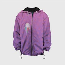 Куртка с капюшоном детская Lumpy Space Princess цвета 3D-черный — фото 1