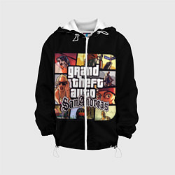 Детская 3D-куртка с капюшоном с принтом GTA SA, цвет: 3D-белый, артикул: 10200485905458 — фото 1