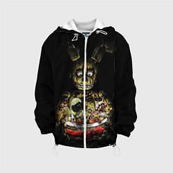 Детская 3D-куртка с капюшоном с принтом Five Nights At Freddy's, цвет: 3D-белый, артикул: 10200898105458 — фото 1