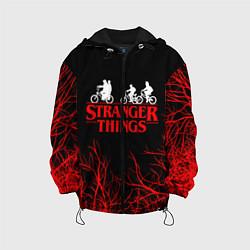 Детская 3D-куртка с капюшоном с принтом STRANGER THINGS, цвет: 3D-черный, артикул: 10201598105458 — фото 1
