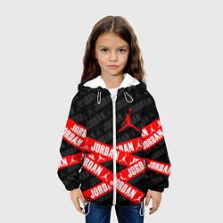 Детская 3D-куртка с капюшоном с принтом MICHAEL JORDAN 23, цвет: 3D-белый, артикул: 10203857305458 — фото 2
