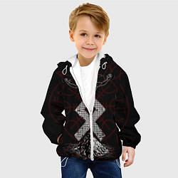 Куртка с капюшоном детская Один цвета 3D-белый — фото 2