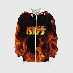 Детская 3D-куртка с капюшоном с принтом KISS, цвет: 3D-белый, артикул: 10204548705458 — фото 1