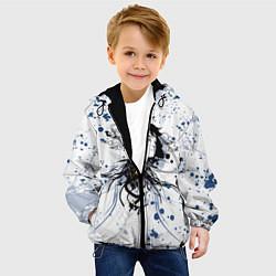 Детская 3D-куртка с капюшоном с принтом Призрак в доспехах, цвет: 3D-черный, артикул: 10205660505458 — фото 2