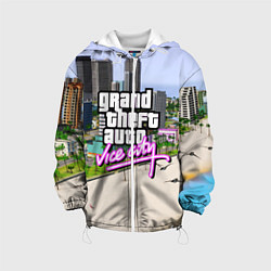Детская 3D-куртка с капюшоном с принтом GTA REDUX 2020, цвет: 3D-белый, артикул: 10205726705458 — фото 1