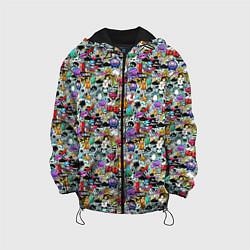 Детская 3D-куртка с капюшоном с принтом Stickerboom, цвет: 3D-черный, артикул: 10207267705458 — фото 1