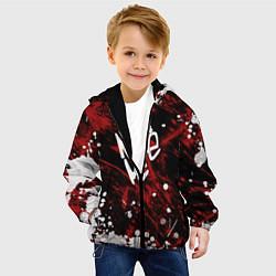 Детская 3D-куртка с капюшоном с принтом Noize MC, цвет: 3D-черный, артикул: 10207397305458 — фото 2