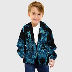 Детская 3D-куртка с капюшоном с принтом Imagine Dragons, цвет: 3D-черный, артикул: 10208236105458 — фото 2