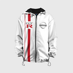 Детская 3D-куртка с капюшоном с принтом NISSAN GTR, цвет: 3D-черный, артикул: 10208592505458 — фото 1