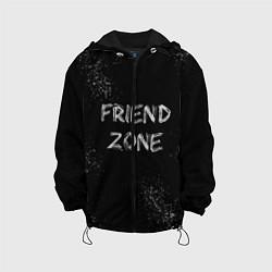 Детская 3D-куртка с капюшоном с принтом FRIEND ZONE, цвет: 3D-черный, артикул: 10209036705458 — фото 1